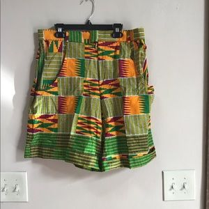 Pants - Nigerian Handcrafted African Style Patterned Short
